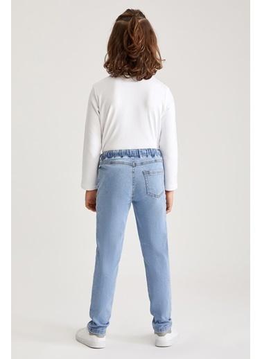 DeFacto Erkek Çocuk Regular  Fit Yıpratma Detaylı Jean Pantolon Mavi